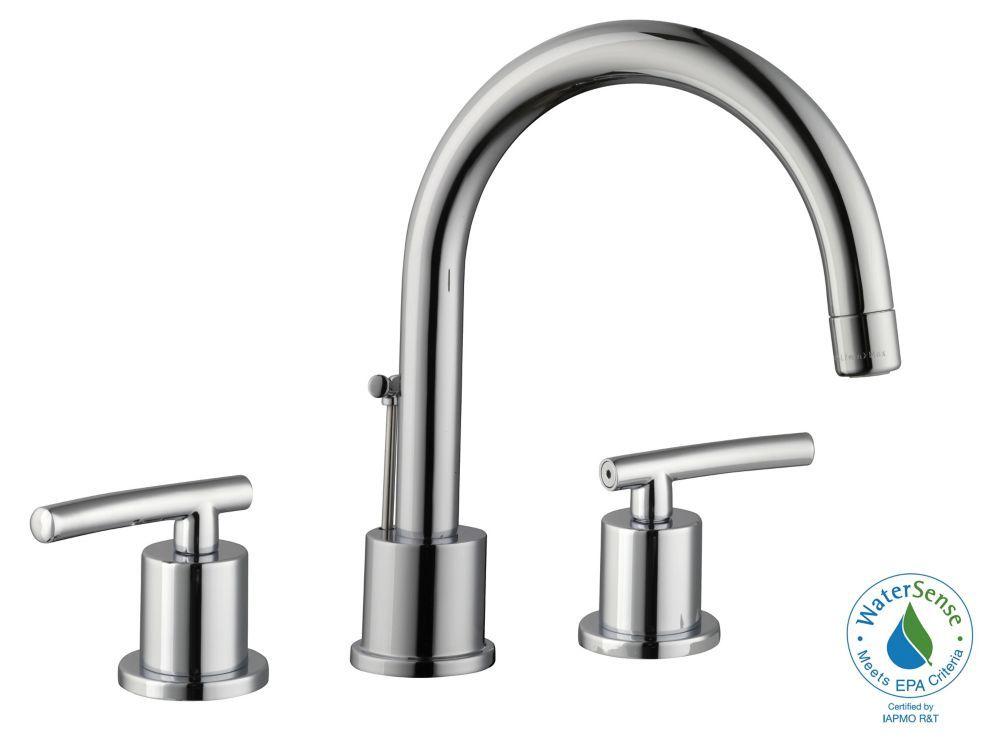 Dorset 8 Inch Widespread 2 Handle Bathroom Faucet In Chrome In 2020 Bathroom Faucets Faucet High Arc Bathroom Faucet