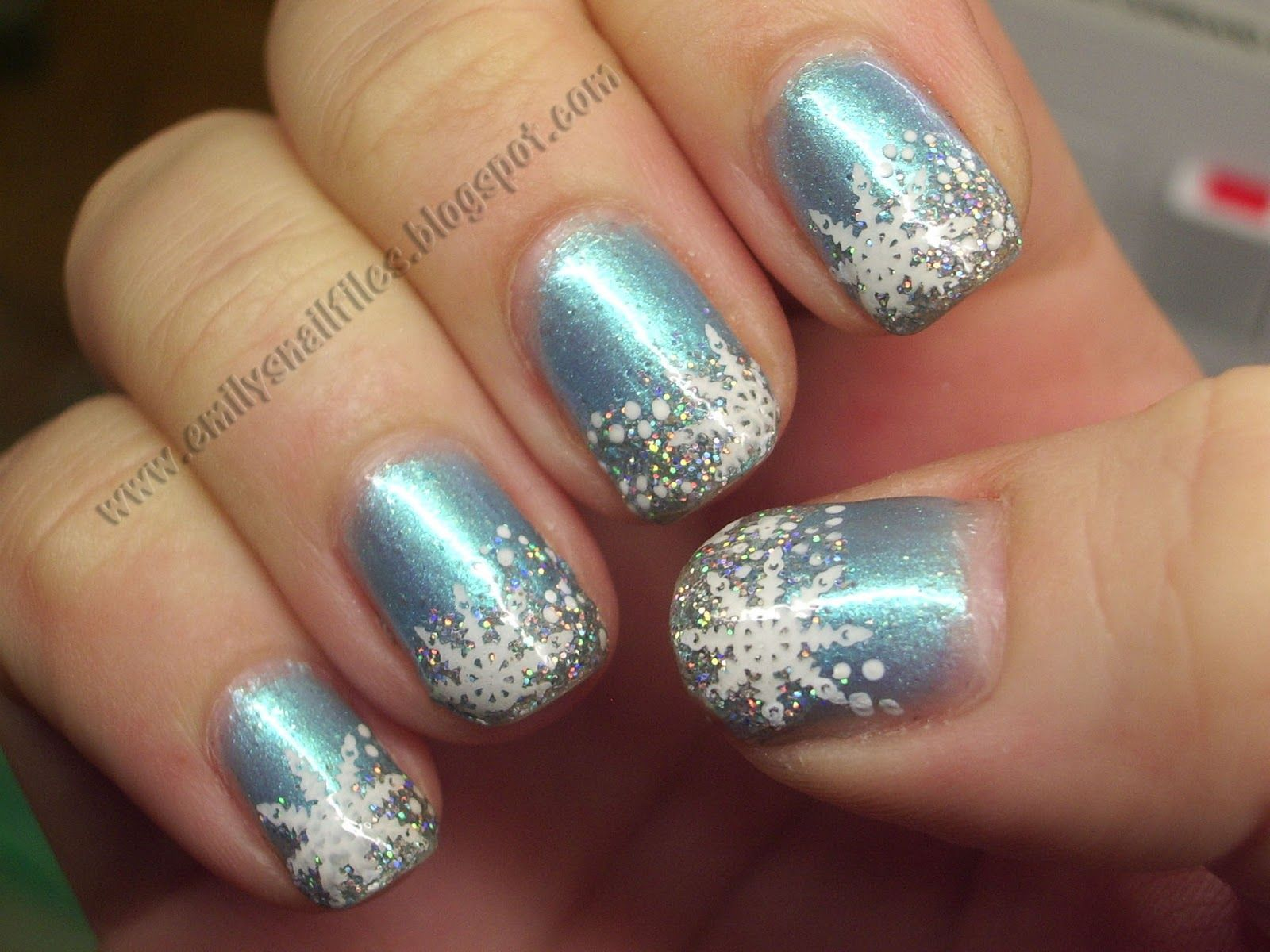Snowflake_Nail_Design | Nails | Pinterest | Christmas nail ...