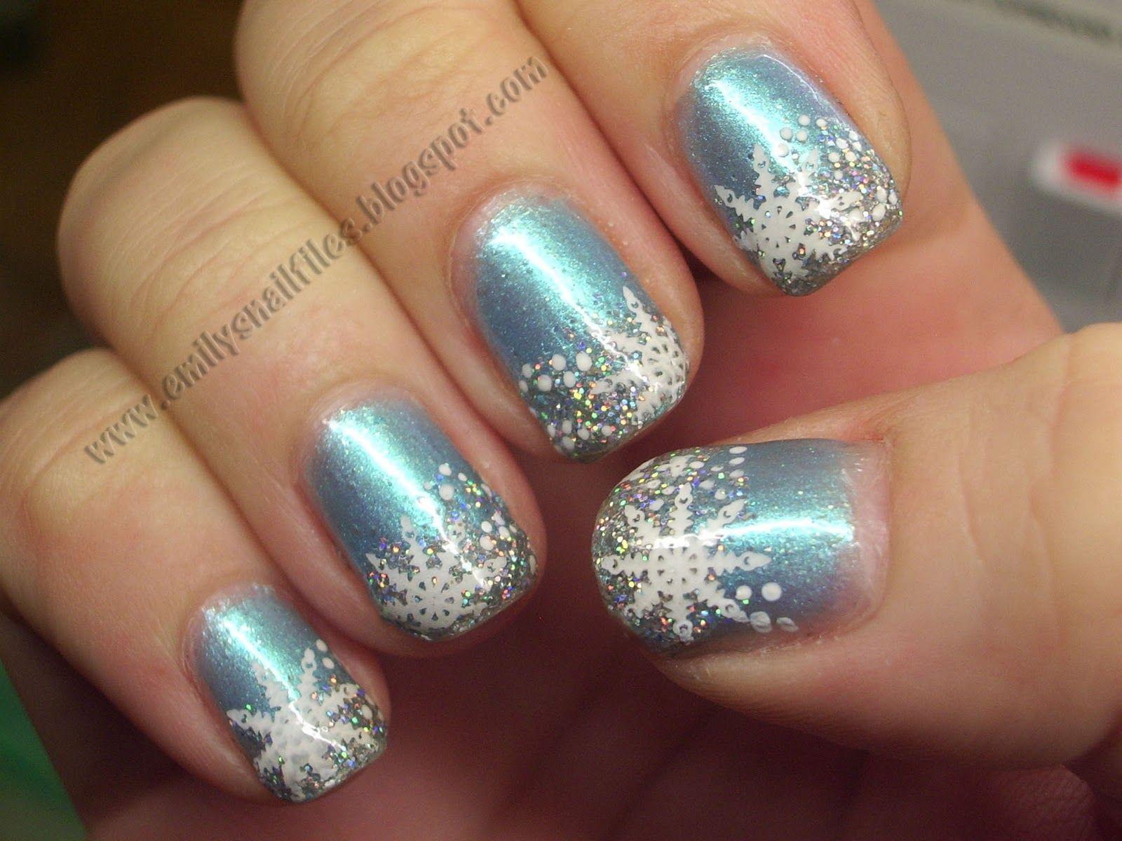 Snowflake_Nail_Design | Nails | Pinterest | Christmas nail ...