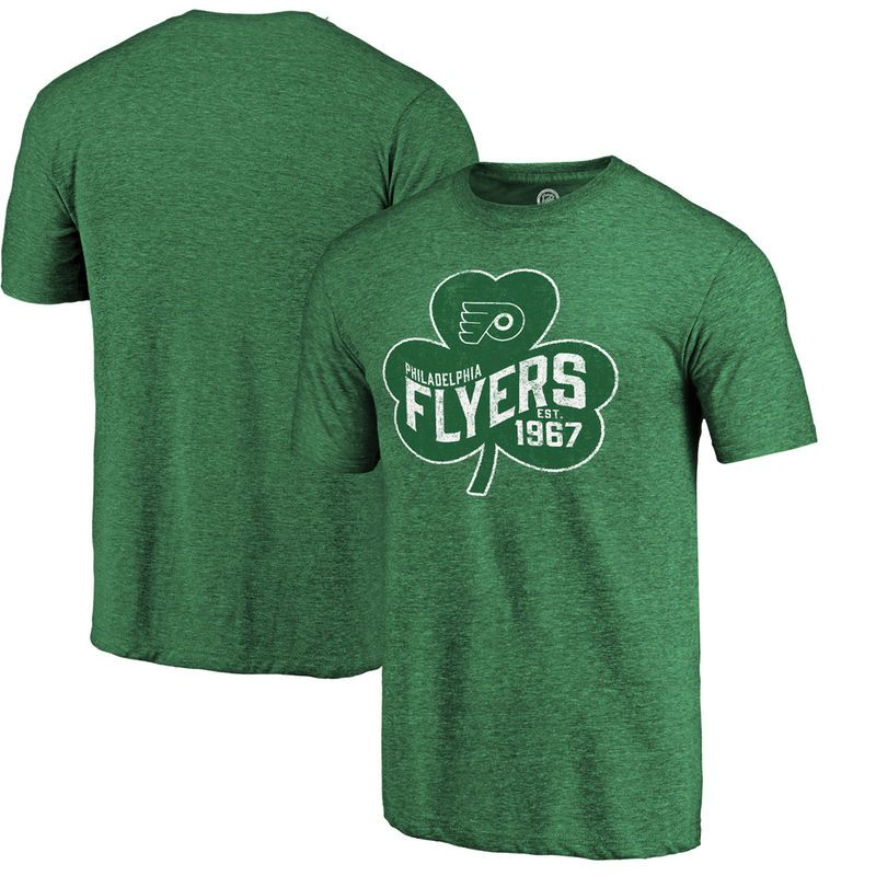 Philadelphia Flyers Fanatics Branded St. Paddy's Day Pride Tri-Blend T-Shirt  -