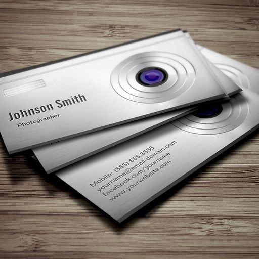 Featured Digital Camera Lens Photography Business Card Digital Camera Lens Photography Business Cards Photographer Business Cards
