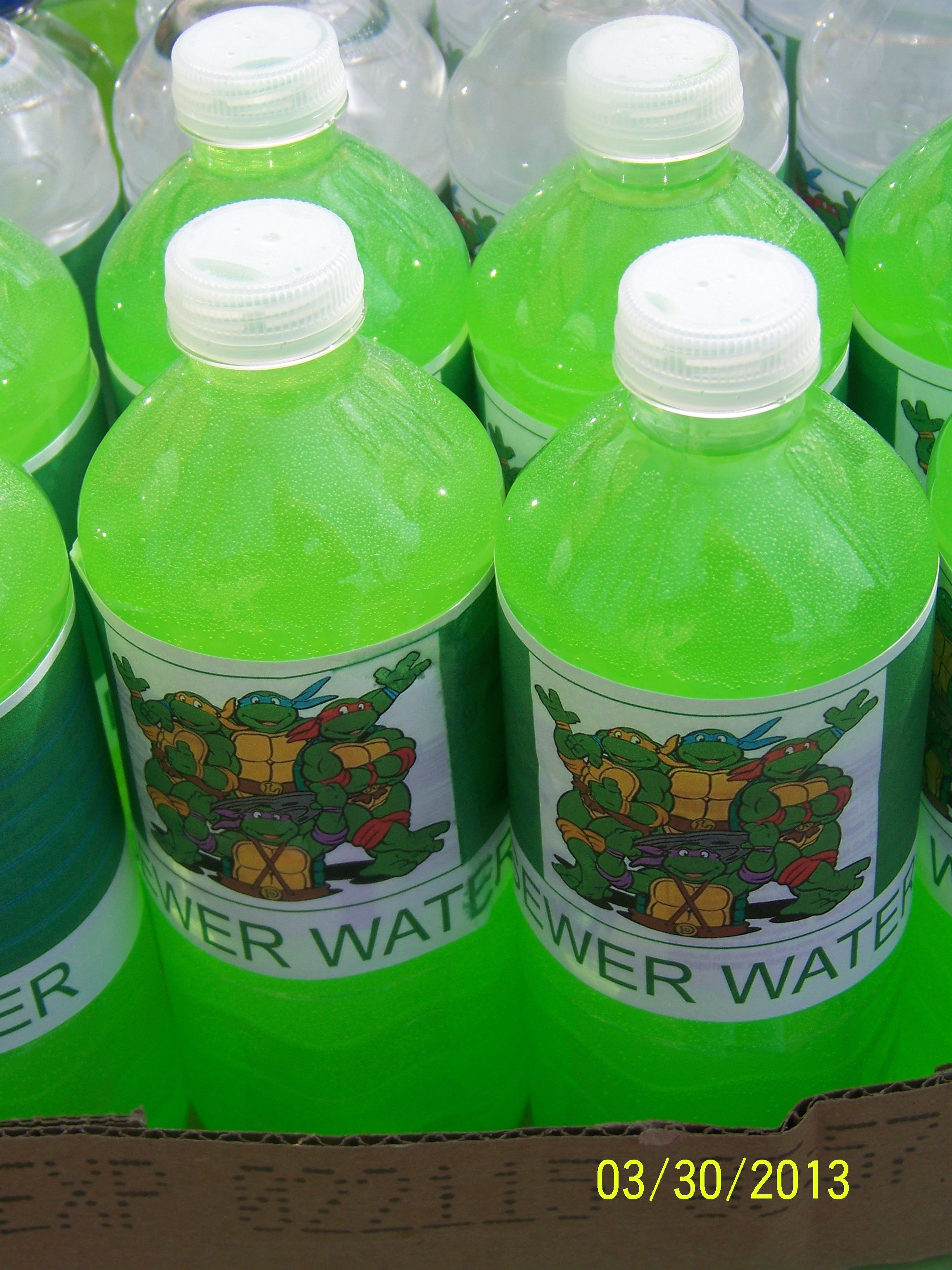 He Wants Sewer Water Also Known As Green Kool Aid I Think Put In A Punch Bowl Type Style Tmnt Party Ninja Turtle Party Turtle Party