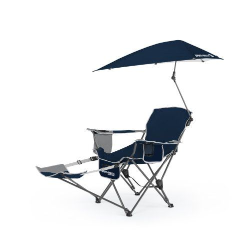 Now Sport Brella Recliner Chair Midnight Blue Sit Back And Relax In The Reclining With Full Coverage Umbrella