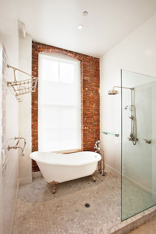 Concept Shower Bath light open concept shower w/ clawfoot tub. i die. | home | pinterest