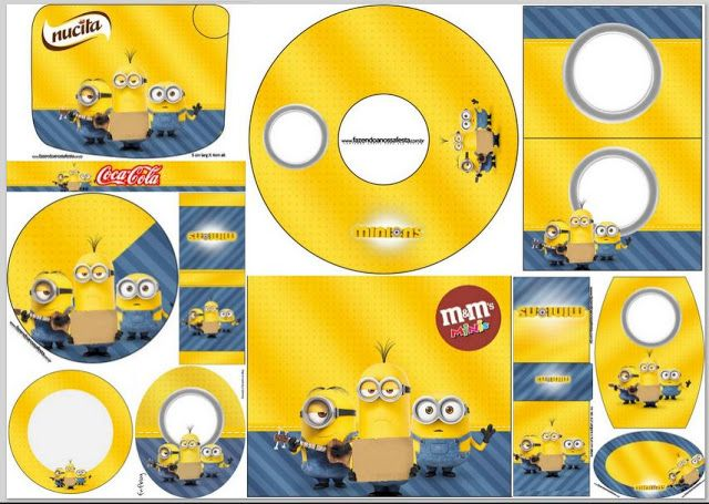 Minions Movie:Free Printable Candy Bar Labels.