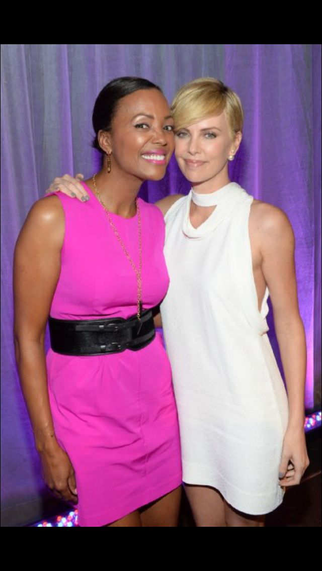 Aisha Tyler and Charlize Theron