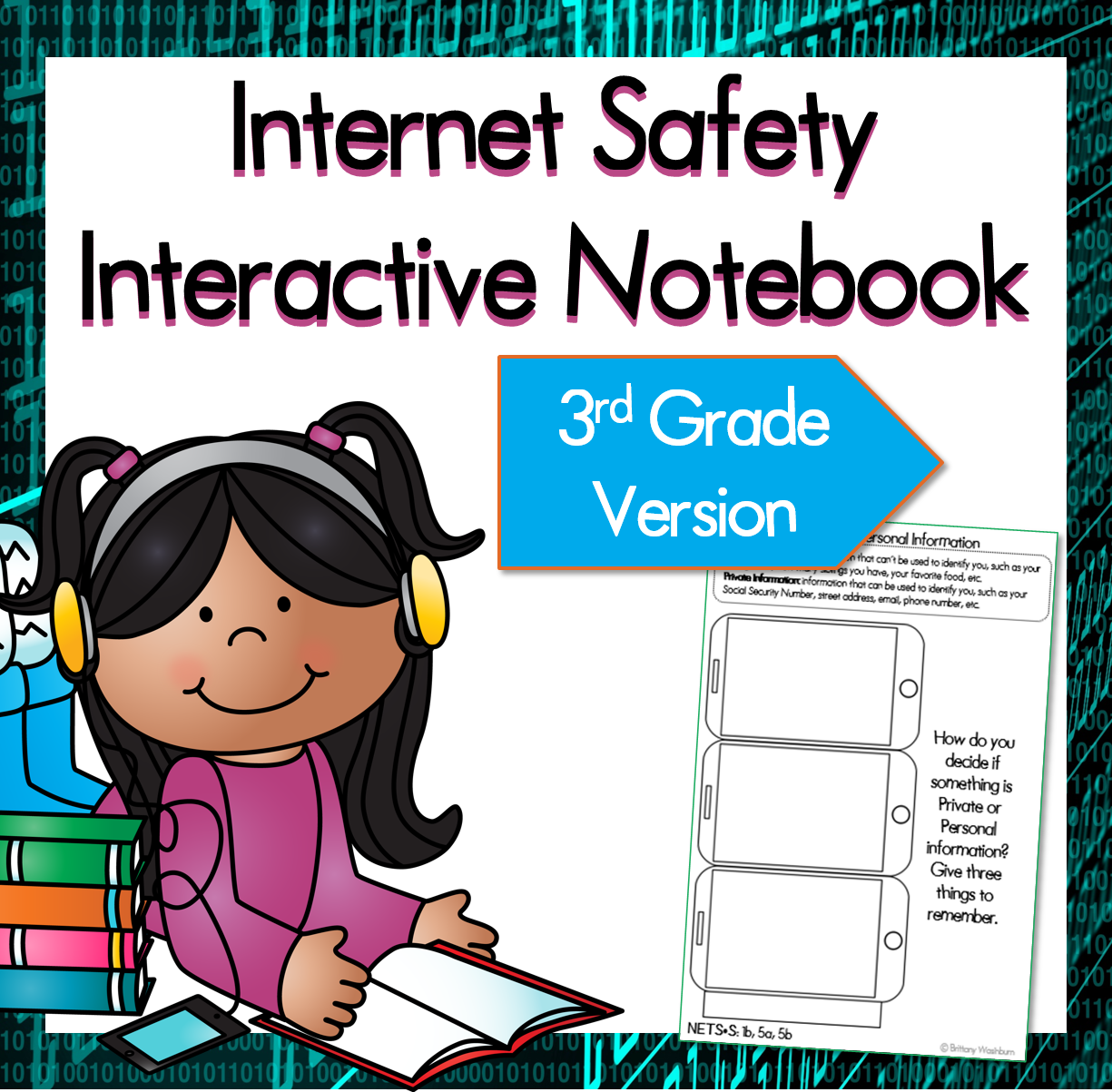 Internet Safety Interactive Notebook Pages 3rd Grade