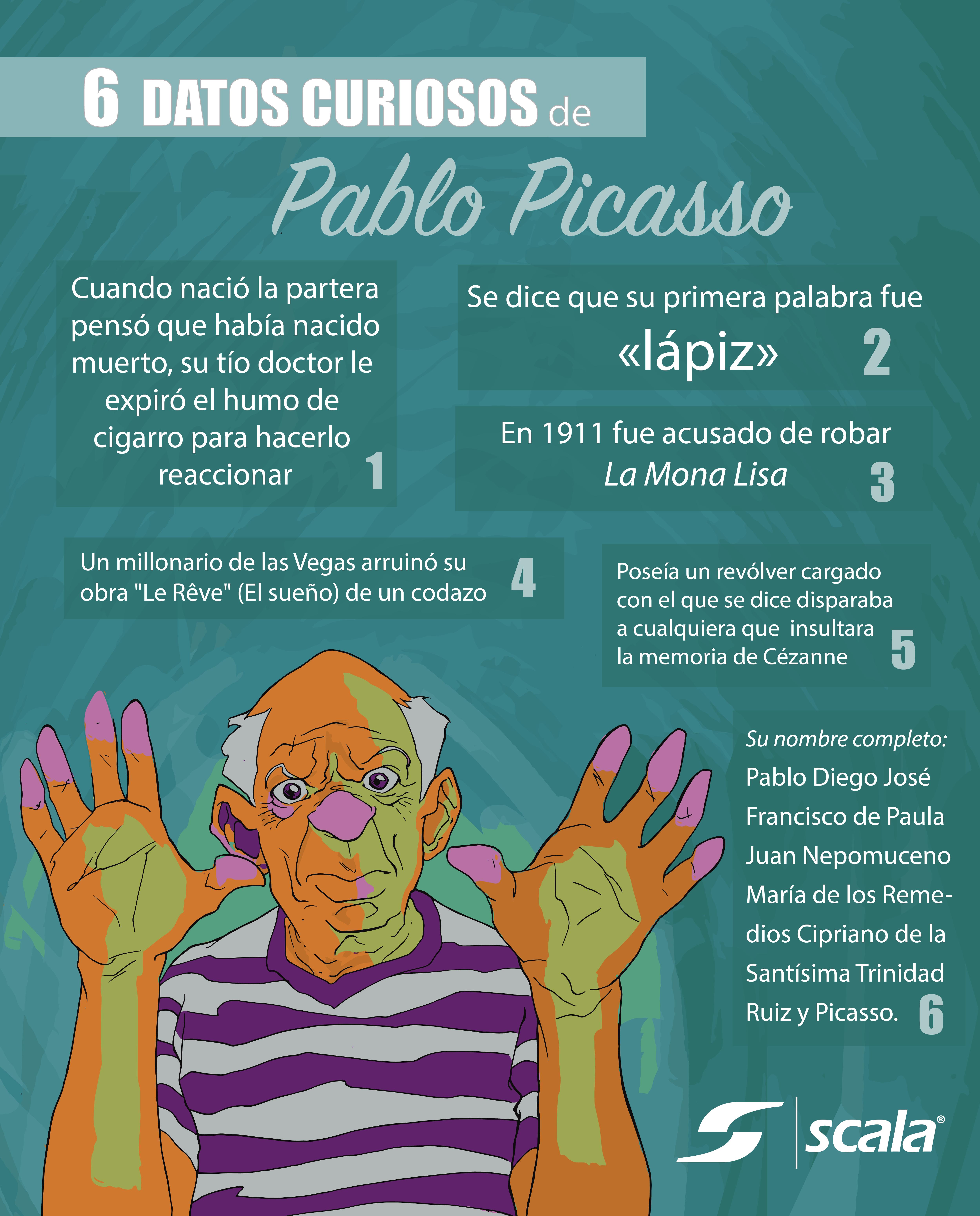 6 Datos Curiosos Sobre Pablo Picasso Vida Y Obra