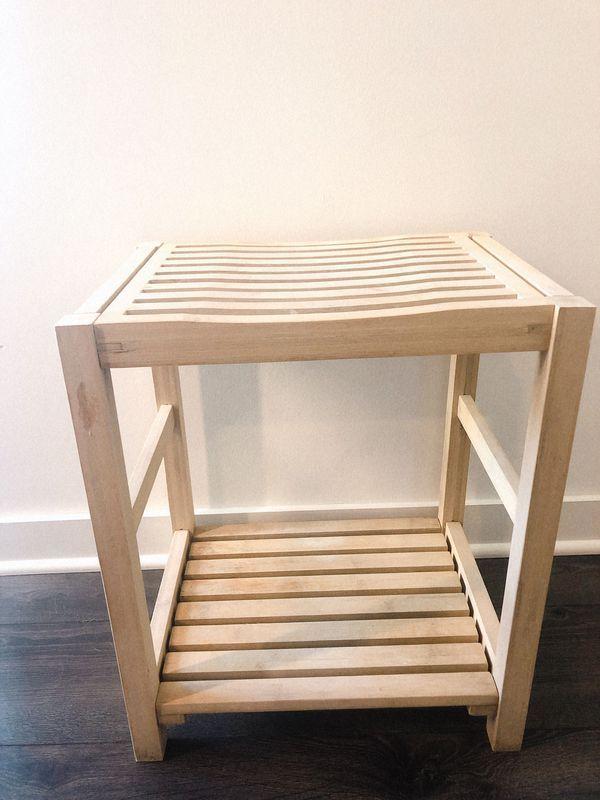 Price drop!! Bamboo Shower Seat/Shaving Stool MOVING