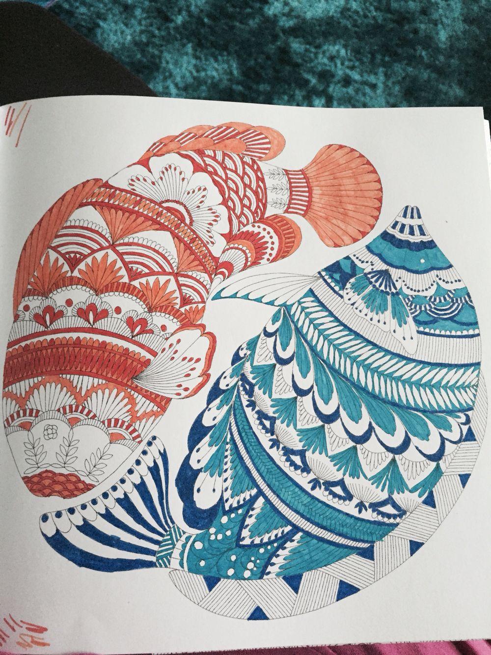 Fish From Millie Marotta S Animal Kingdom Colouring Book Animal Kingdom Colouring Book Millie Marotta Animal Kingdom Millie Marotta Coloring Book