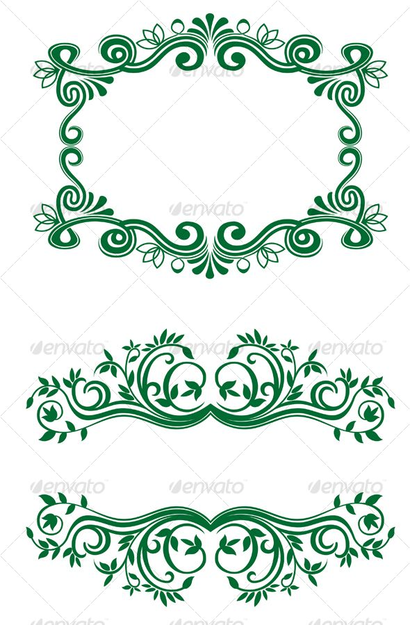 Floral Decorations vintage floral decorations | floral decorations, vector graphics