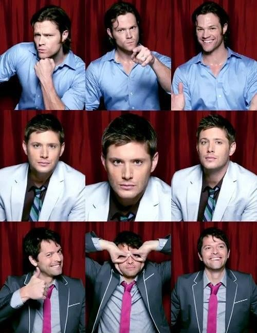 supernatural jared jensen and misha - Google Search