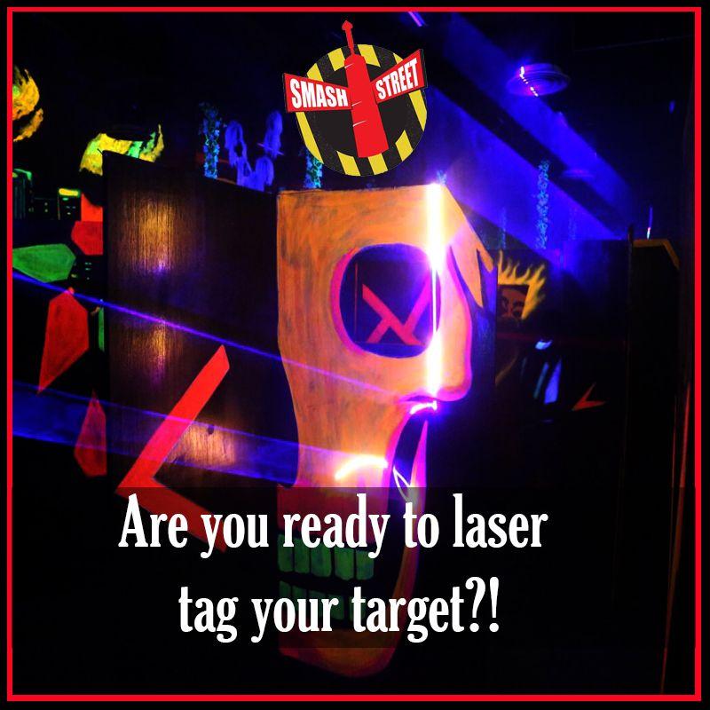 Laser tag arena at Smash Street