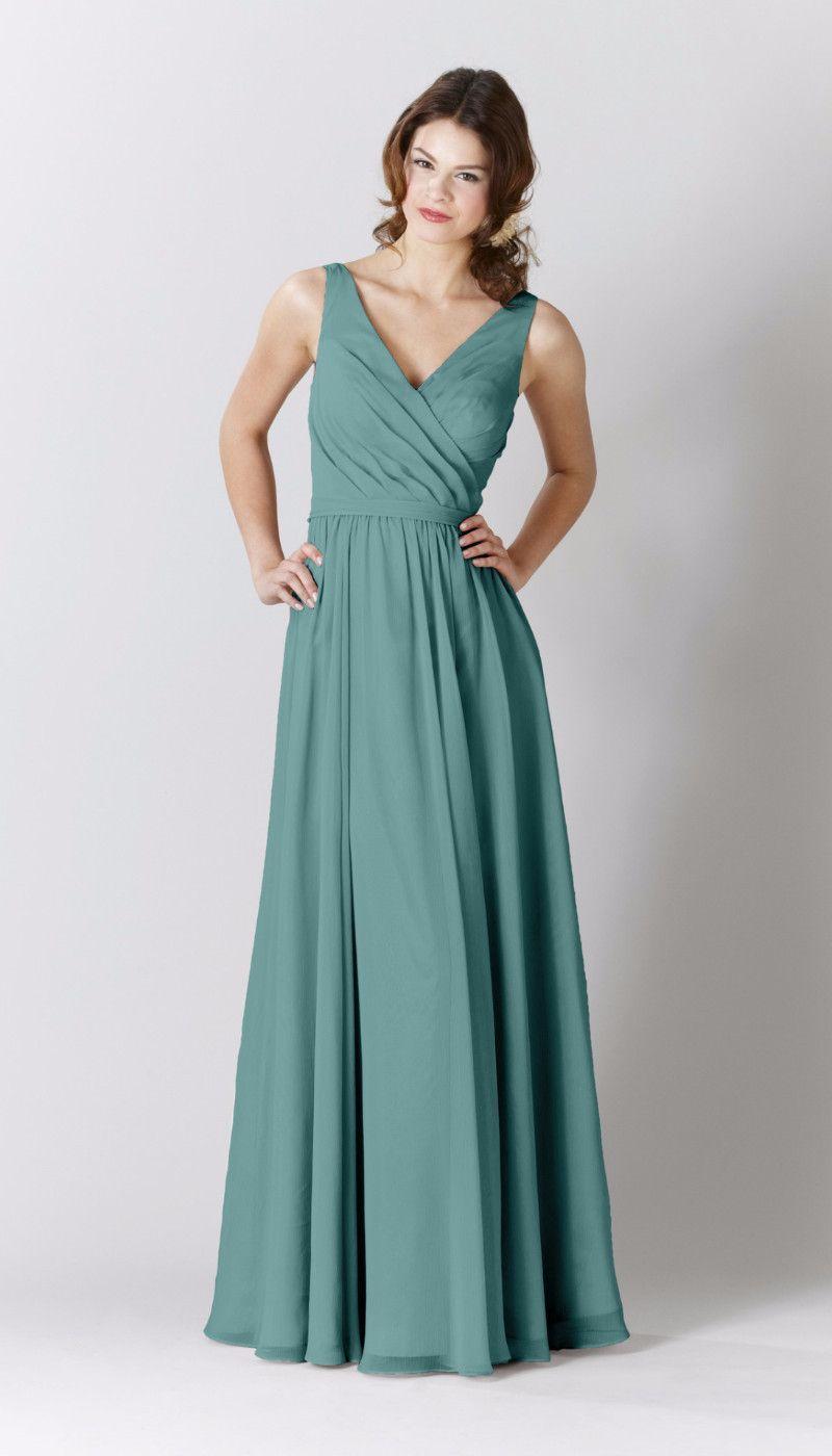 Anna | Chiffon bridesmaid dresses, Teal blue and Anna