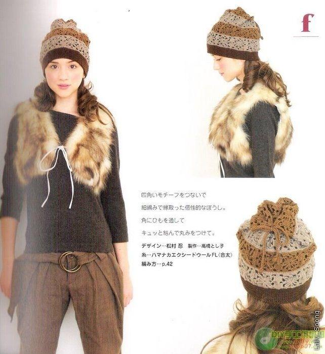 Вязаные шапки, шляпки, береты крючком из японского журнала ...