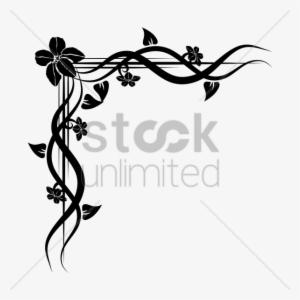 Corner Floral Design Png Clipart Floral Design Clip 637854 Floral Design Flower Frame Png Floral Drawing