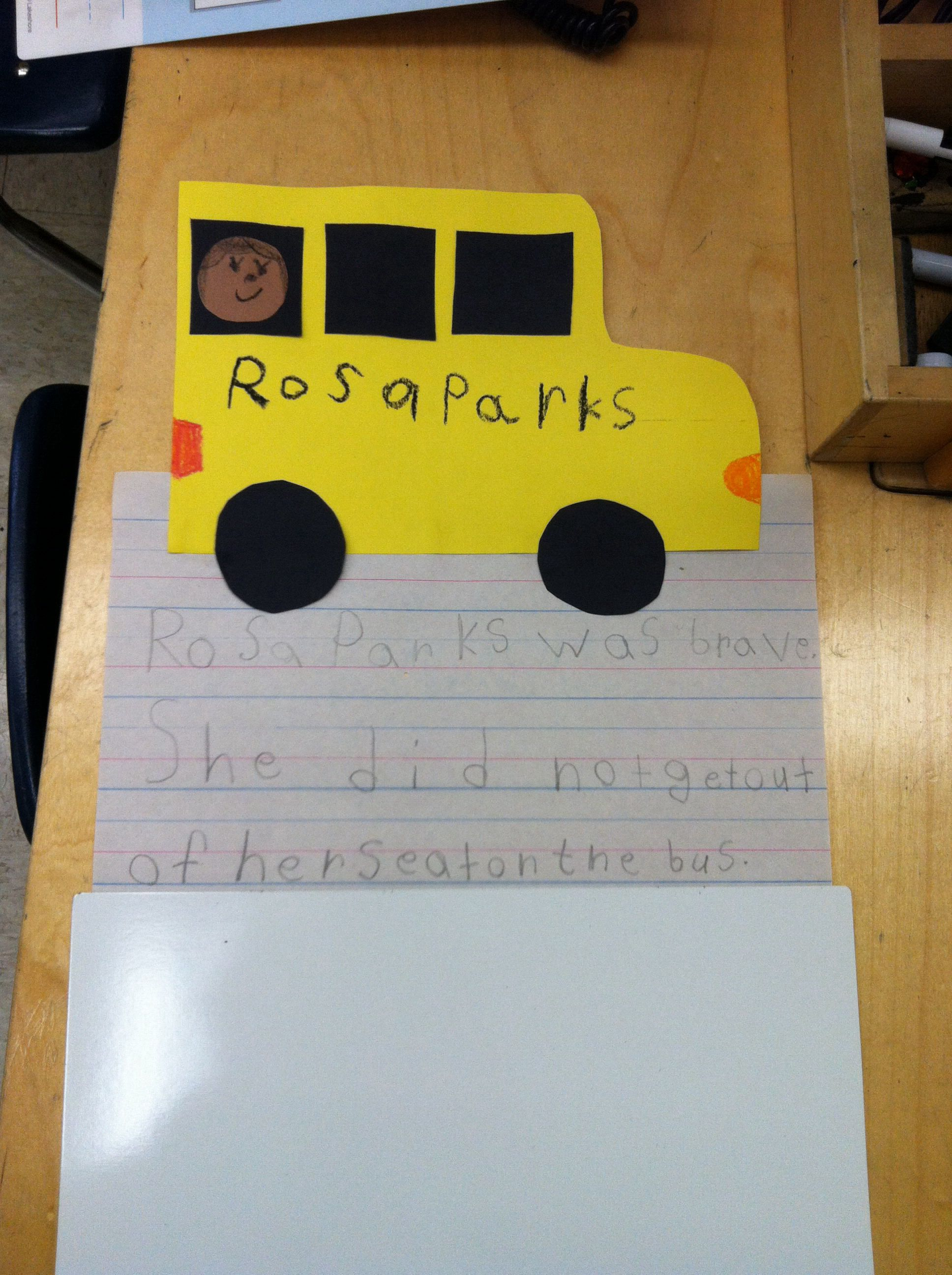 Rosa Parks With My Kindergarteners
