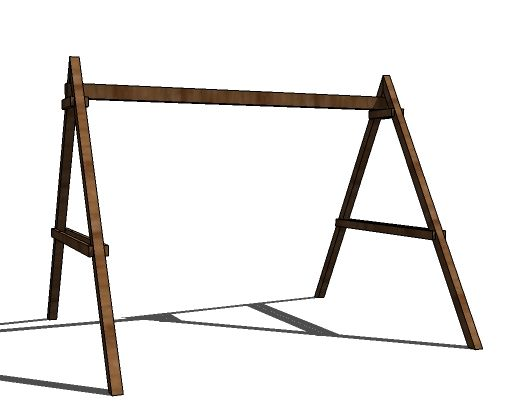 How To Build A Swing Set For The Playhouse Swing Set Diy Build