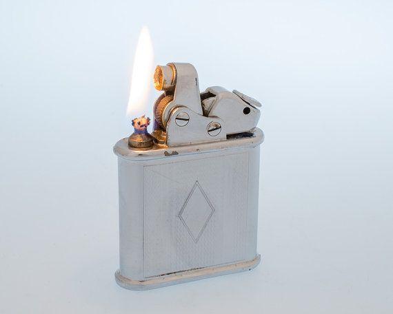 Working 1930s Swiss Thorens Oriflam Art Deco Pocket Lighter