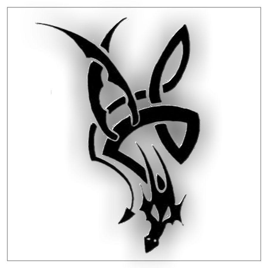 Smok Tribal Fajny Wzór Dla Mężczyzny Tatuaże Tatuaże