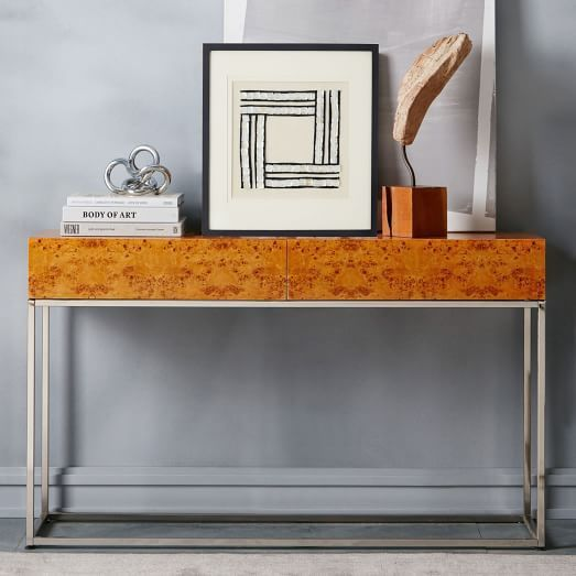 west elm burlwood console table wish list in 2019 entryway rh pinterest com