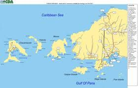 Northwest Peninsula of Trinidad this map shows the various islands