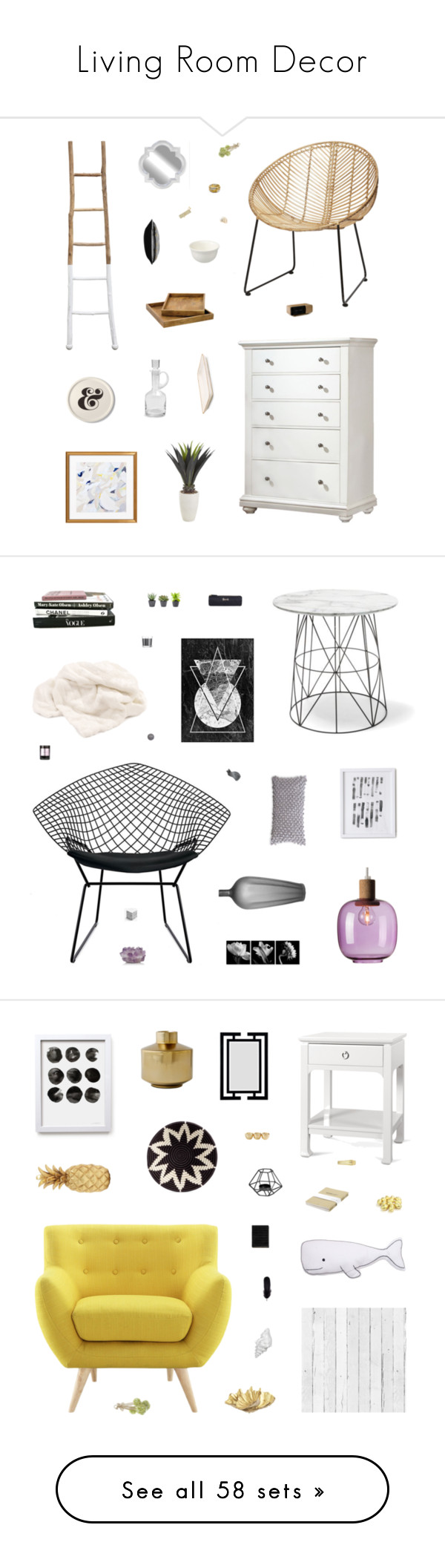 """""""Living Room Decor"""" by belenloperfido ❤ liked on Polyvore featuring interior, interiors, interior design, home, home decor, interior decorating, Dot & Bo, Greyson Living, Kate Spade and Pier 1 Imports"""