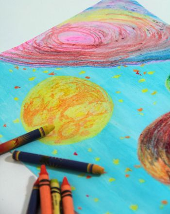 Create A Wax Resist Nightscape Art Projects For Kids Craft