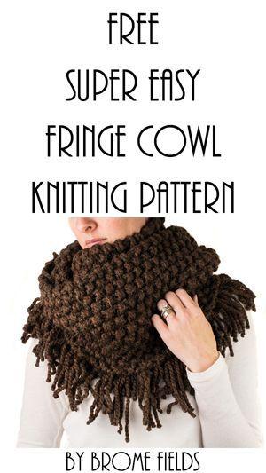 Free Fringe Cowl Knitting Pattern Designer Knitting Patterns