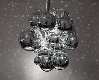 Disco ball chandelier i think that i might need to make one of these for the saturday night dancing in our house