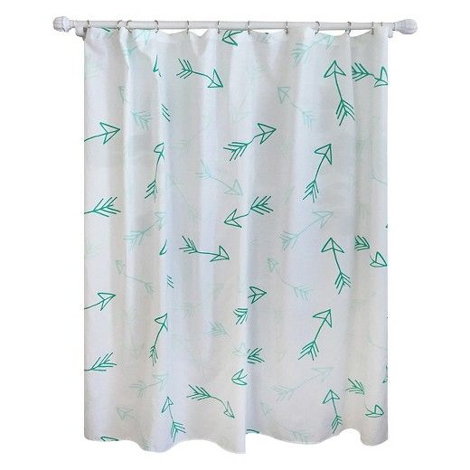 Turquoise Arrow Shower Curtain Pillowfort With Images Arrow Shower Curtain Shower Curtain Pillow Fort