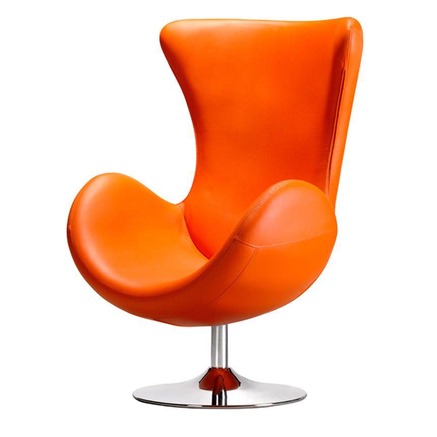 Classic Orange Accent Chair Exterior