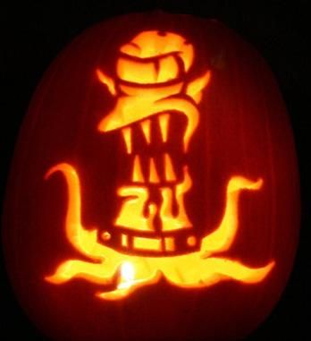 30 Awesome Pumpkins Artwork Of The Simpsons Walyou Pumpkin Carving Pumpking Carving Halloween Pumpkin Designs