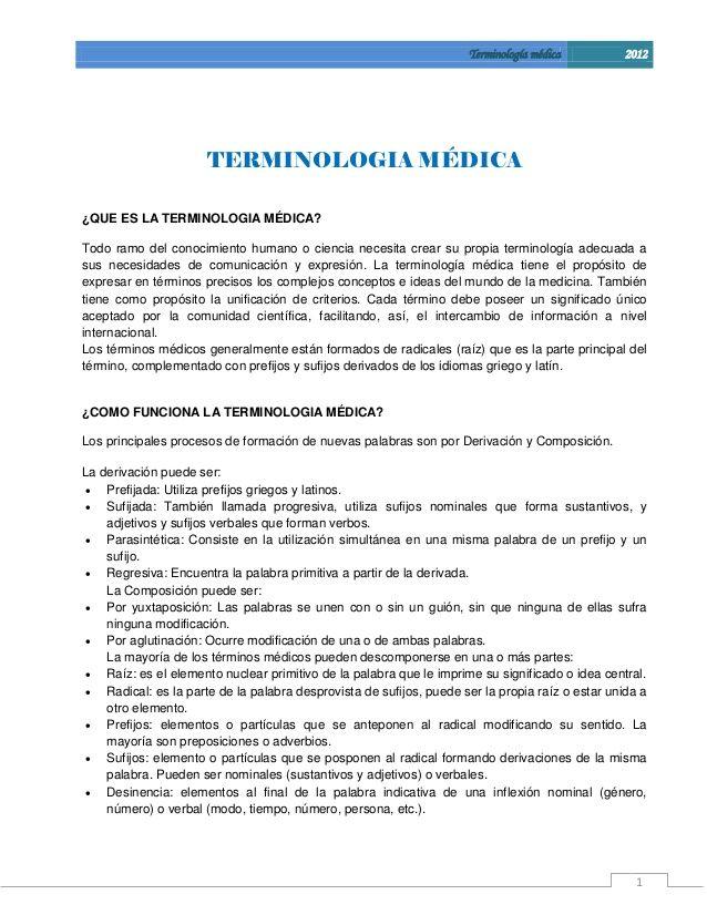 Manual de terminologia medica guia para el estudiante   Terminologia ...