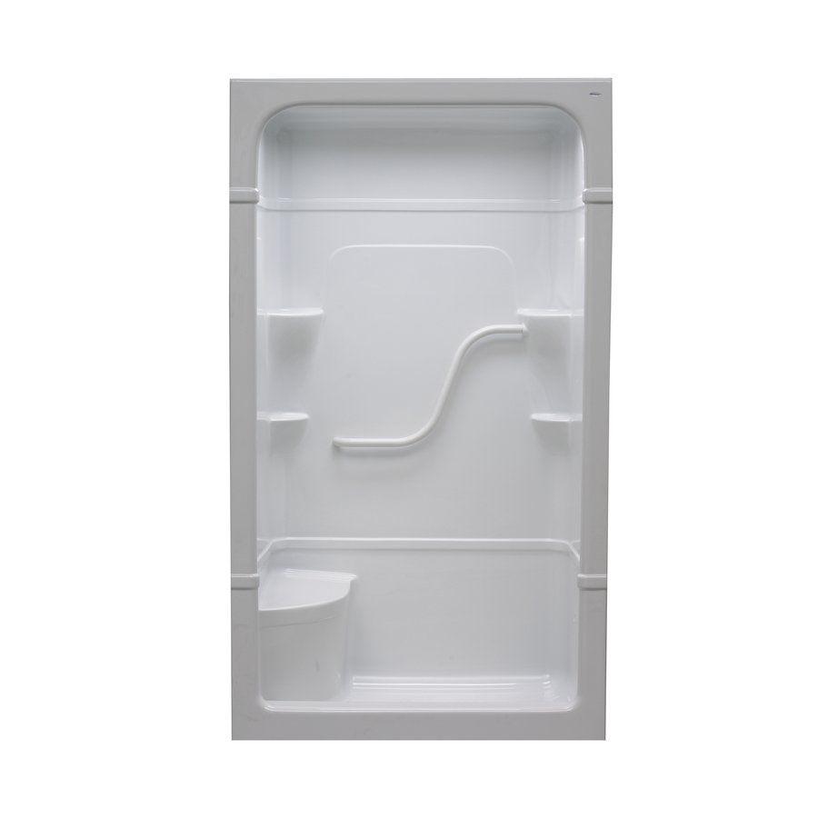 Mirolin Madison 50 In W X 34 25 In L X 84 5 In H White Acrylic