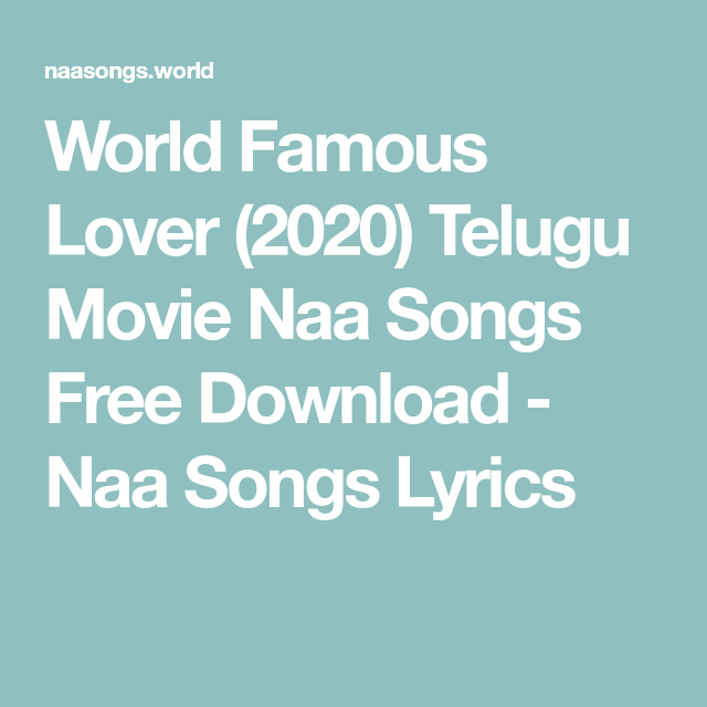 Naa download lover songs lover lover Lovers Songs
