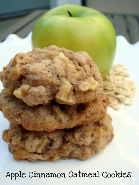 apple cinnamon oatmeal walnut cookies