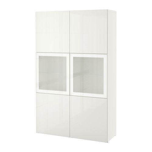 Vitrine Ikea bestå vitrine weiß selsviken hochglanz frostglas weiß ikea