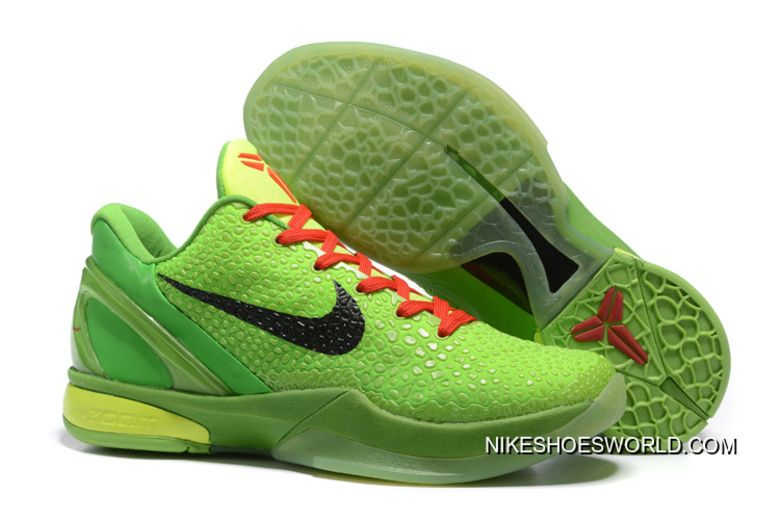 5905a7c94e7 Nike Zoom Kobe 6 Grinch Christmas Green Mamba Basketball Shoes New ...