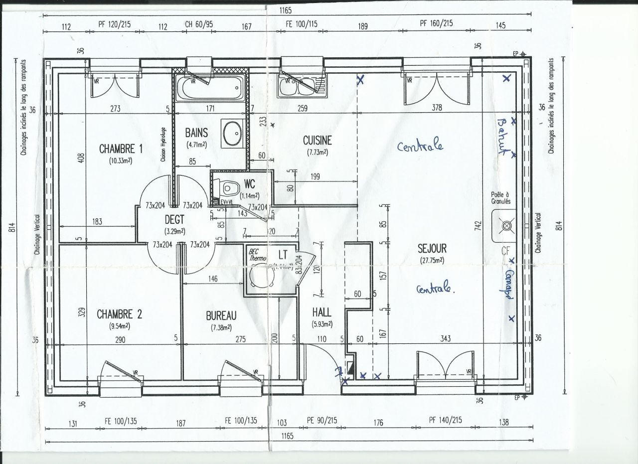 Photo Le Plan De La Maison Plan Maison Plan Maison