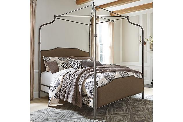 Brown Moriann Queen Poster Bed - Ashley Furniture Homestore | Stuff ...