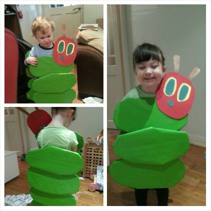 Child Caterpillar Costume Boys Girls Book Week Fancy Dress Outfit