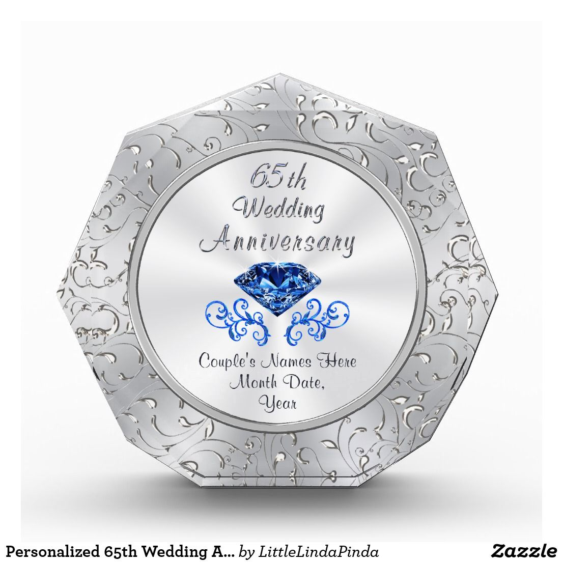 Personalized 65th Wedding Anniversary Gift Ideas