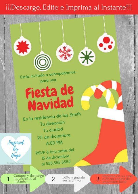 Invitación Fiesta De Navidad Invitación Fiesta Familiar