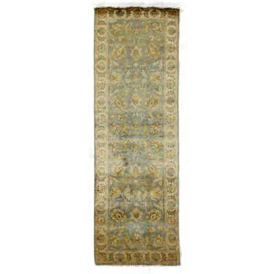 Exquisite Rugs Oushak Hand Knotted Wool Light Blueivory Area Rug