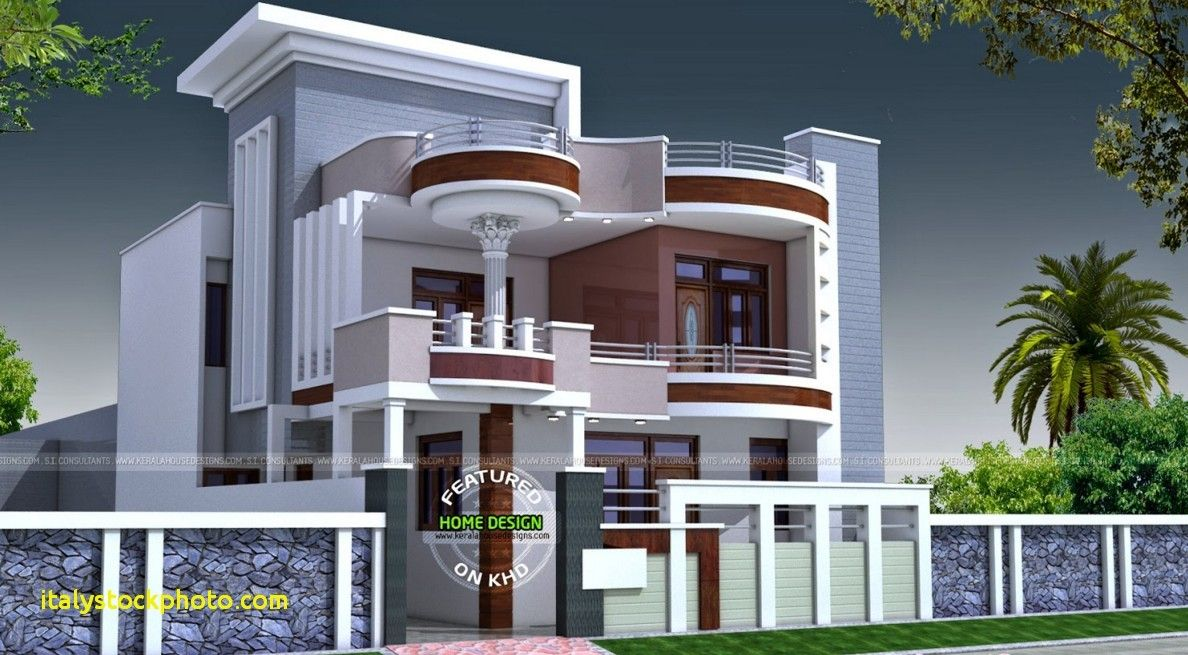 House Front Elevation Designs For Double Floor In India 2018 House