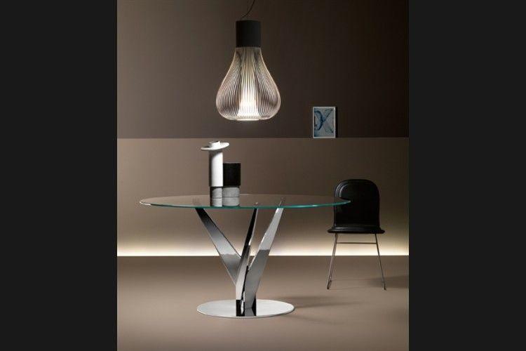GlazenDesignTafel.nl | Glazen eettafel Epsylon | FIAM | Italian design | Glass table by Fabio Di Bartolomei | vidre glastoepassingen, Leiden | vidre.nl