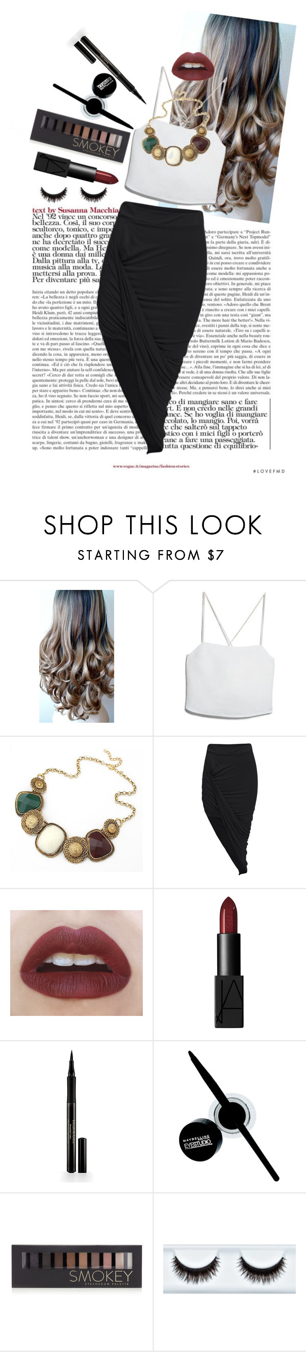 """""""Color"""" by baileybear783 ❤ liked on Polyvore featuring MANGO, Haze, NARS Cosmetics, Elizabeth Arden, Maybelline and Forever 21"""