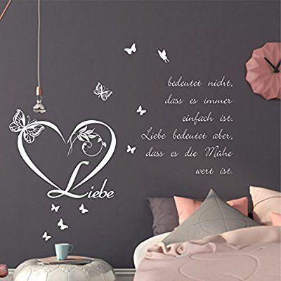 greenluup® Wandtattoo Liebe bedeutet nicht, dass es immer einfach - wandtattoo für wohnzimmer