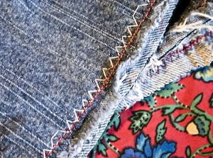 Hemming jeans...